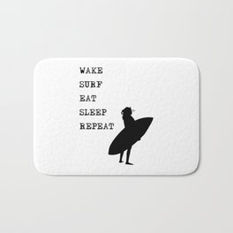 Wake Surf Eat Sleep Repeat Bath Mat