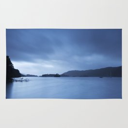 Sky over Lake Windermere. Low Millerground, Windermere, Lake District, UK in Autumn Rug