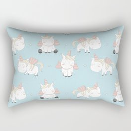 Pegacorn - Mint Blue Rectangular Pillow