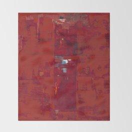 Red Solomon Throw Blanket