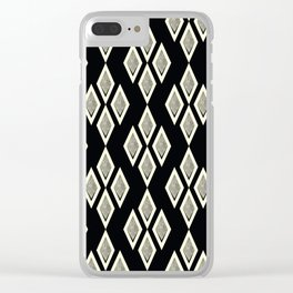 Black and cream ,classic Clear iPhone Case
