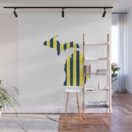 Maize and Blue Michigan Wall Mural