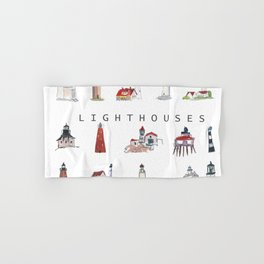 Collection of Lighthouses around the World Hand & Bath Towel