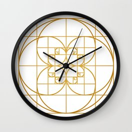 Golden Splash Wall Clock