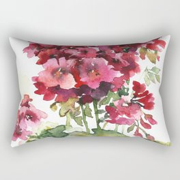 Watercolor geranium flowers Rectangular Pillow