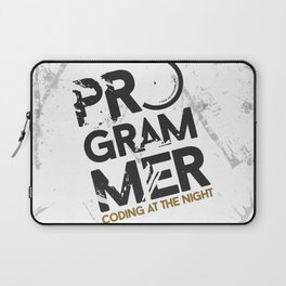 Programmer : Coding at the night Laptop Sleeve