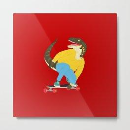 Skate Raptor Metal Print