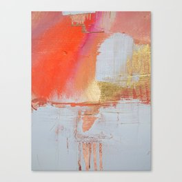 Insight: a minimal, abstract painting in reds and golds by Alyssa Hamilton Art Canvas Print