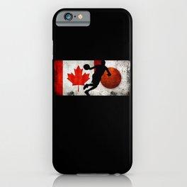 Basketball Men Canada Flag Tokyo 2021 Japan Flag iPhone Case
