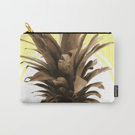 Pineapple Print - Tropical Poster - Botanical Print - Pineapple Wall Art - Yellow, Golden - Minimal Carry-All Pouch