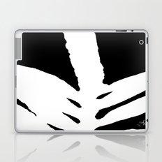 Green Fern White and Black Laptop & iPad Skin