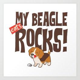 My Beagle Rocks Art Print
