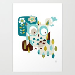 Owl Be There Art Print