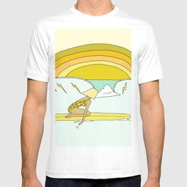 daydreams paddle out surf rainbows // retro surf art by surfy birdy T-shirt