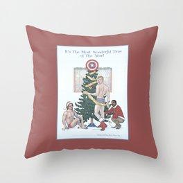 Team Cap Nice Pinup Holiday Card Throw Pillow
