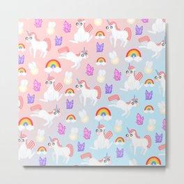DoOopy Unicorns Metal Print
