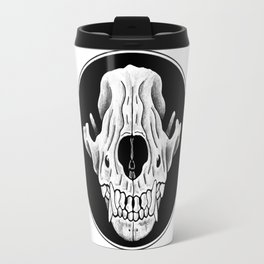 Amos Fortune Circle Skull Logo Travel Mug