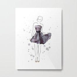 Girl in purple Metal Print