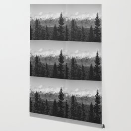 Snow Capped Sierras - Black and White Nature Photography Wallpaper