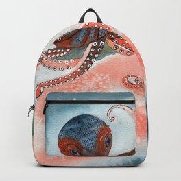 Octopus Watercolor Backpack