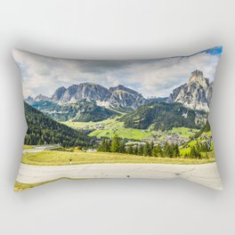 on the roads of dolomites Rectangular Pillow