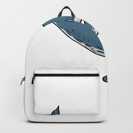 Humpback Whale Color Drawing Backpack
