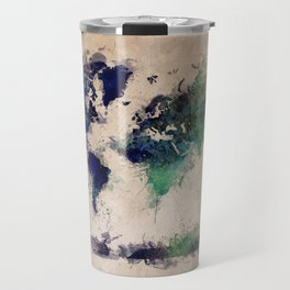 World Map splash raf Travel Mug