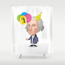 Party George Shower Curtain