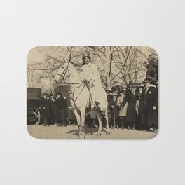 Inez Milholland Leading Suffrage Parade Bath Mat