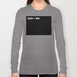 1024 x 768 black panel Long Sleeve T-shirt