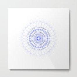 Snowflake #009 transparent Metal Print