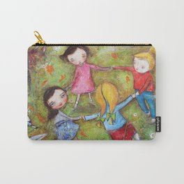 Autumn Mistral, playing ring-a-ring-a-rosie on a windy day Carry-All Pouch