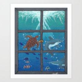 Window To The Sea Art Print