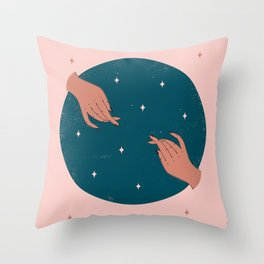 Handsy Throw Pillow