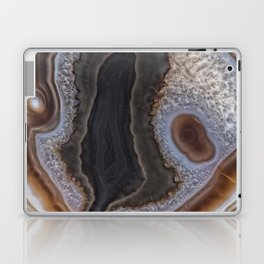 Chocolate colored Agate Crystals Laptop & iPad Skin