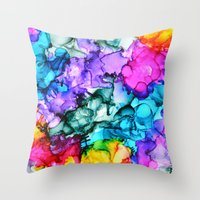 indie Throw Pillows featuring Indie Chic by Claire Day