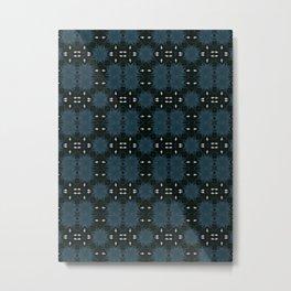 Indigo Mud Cloth  Metal Print