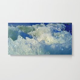 Message from the sea 10 / Hopping wave Metal Print