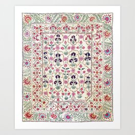 Ura Tube Suzani Uzbekistan Embroidery Print Kunstdrucke