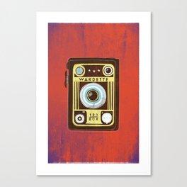 Brown Vintage Camera Canvas Print