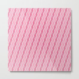 Pretty in Pink Stripes Metal Print