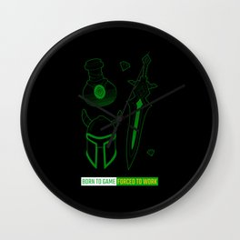 Gaming t-shirt funny gamer outfit gift idea Wall Clock