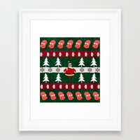 zoidberg Framed Art Prints featuring Ugly X-Mas Sweater by fashionsforfans