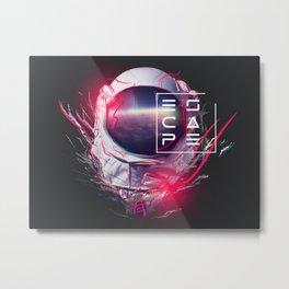 SpaceHead - Dark Metal Print