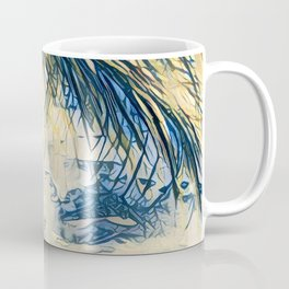 Tropical Palm Tree Blue by CheyAnne Sexton Coffee Mug