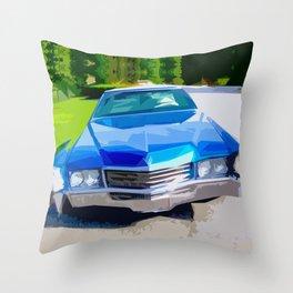 1970 Cadillac Eldorado Throw Pillow