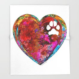Dog Art - Puppy Love 2 - Sharon Cummings Throw Blanket