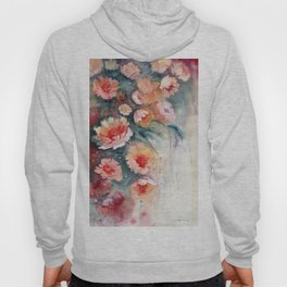 Floral Impressionist Watercolor Hoody