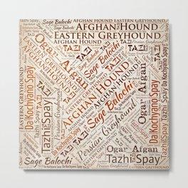 Afghan Hound Word Art Metal Print