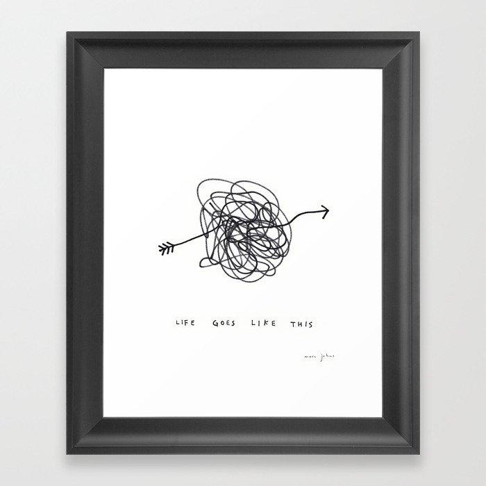 life goes like this Framed Art Print